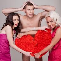 Три девки и один парень секс видео для